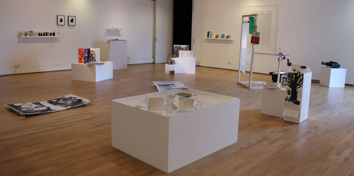 art in a bookshell: views of the exhibition in the milton gallery-11