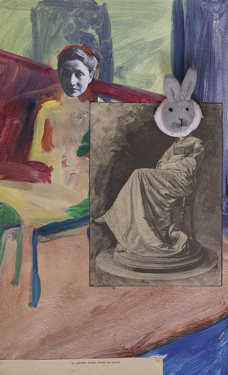 paula roush: queer paper gardens, collage