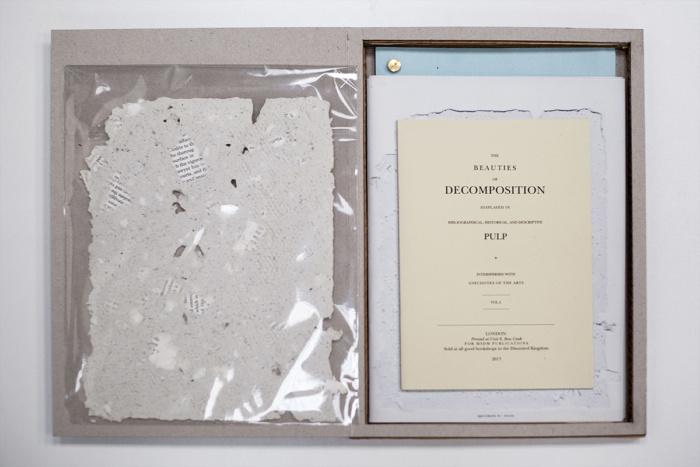 Unique handmade paper specimen + Laser printed books in bespoke cover/box