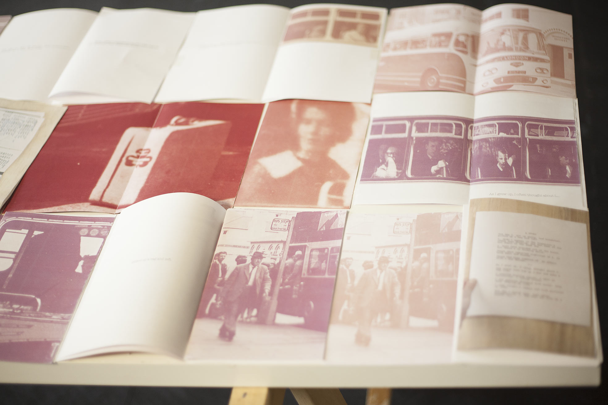 bus-spotting+ a story: photobook and installation